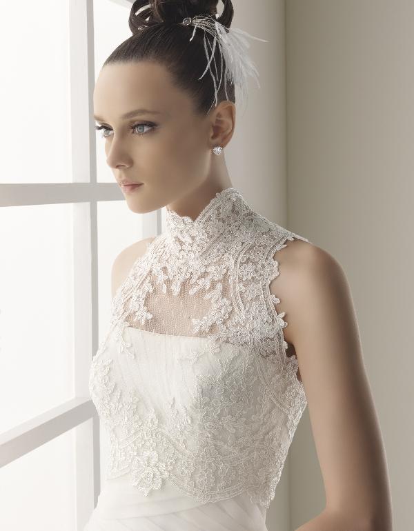 Vestidos de novia para gorditas con cuello halter