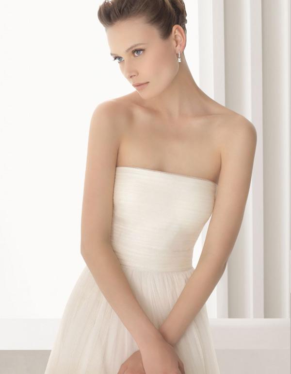 escote de vestido de novia strapless