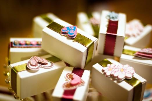 souvenirs para boda con cajas decoradas