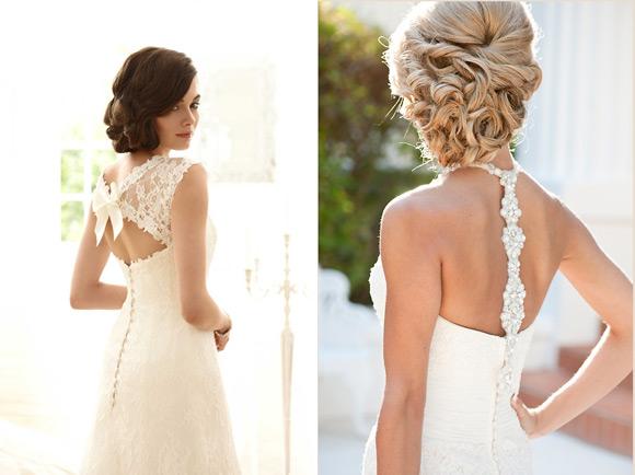 escote de espalda del vestido de novia