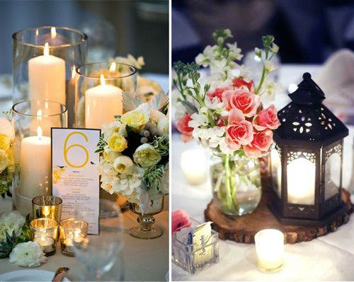 Matrimonio Simbolico Con Velas : Centros de mesa para boda fáciles elegantes y originales
