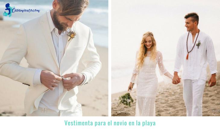 boda en la playa económica vestimenta del novio