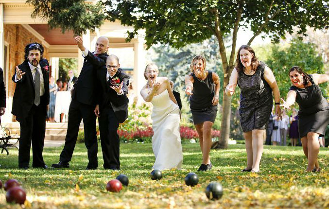 juegos de boda bocce ball