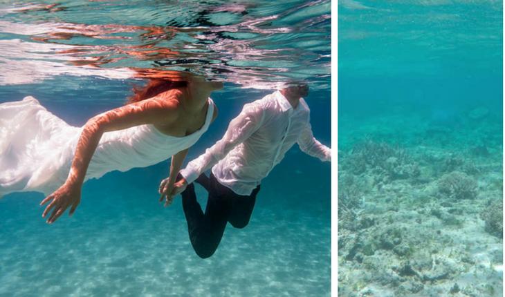 Boda abajo del mar