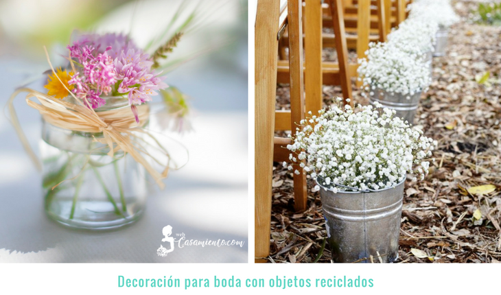 decoracion boda sencilla con objetos reciclados