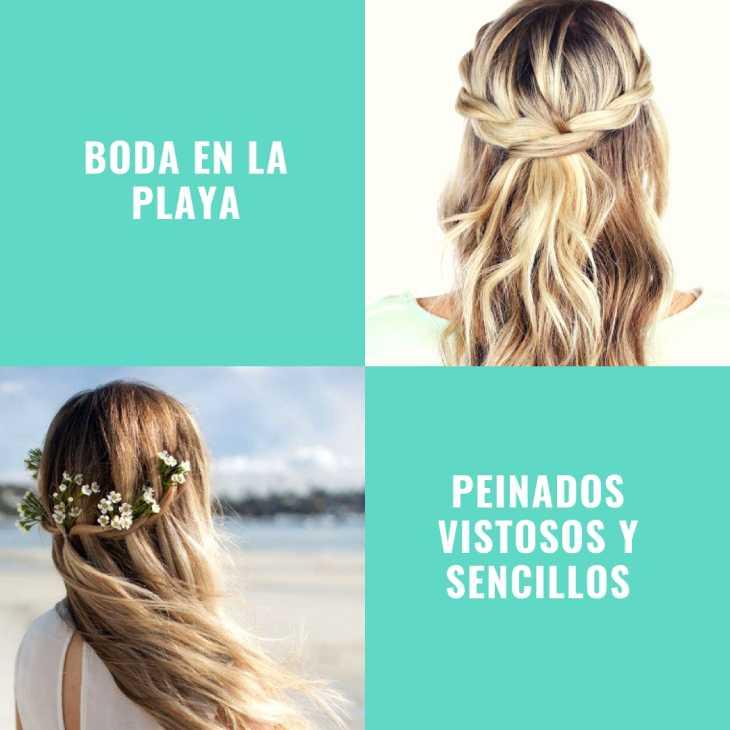 Peinados boda playa 2018