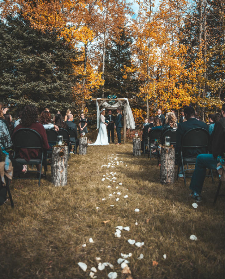 boda rústica altar