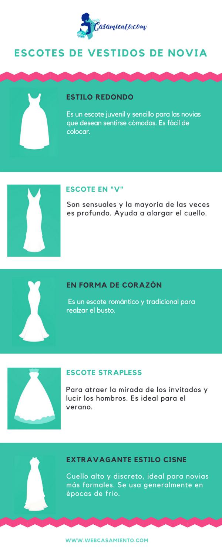 escote de vestido de novia