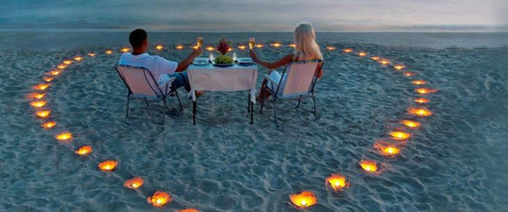 luna de miel en la playa