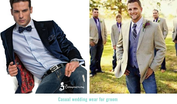 Casual wedding suit