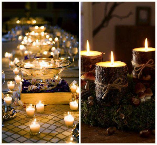 boda rustica decorar con velas