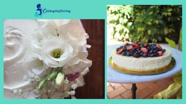 torta de casamiento moderna