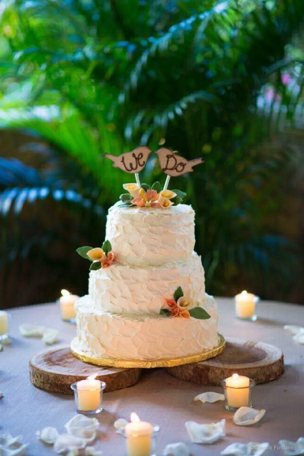 tortas de casamiento sencillas