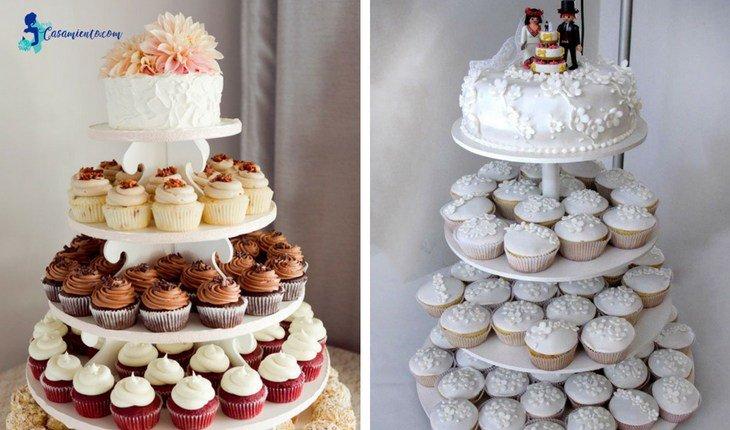 tortas cupcake para bodas