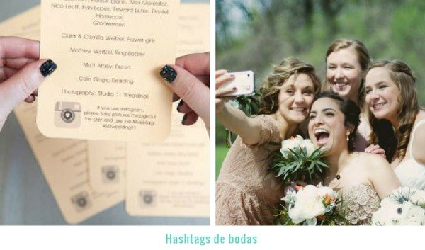 hashtag para boda
