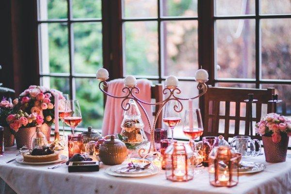 centro de mesa vintage