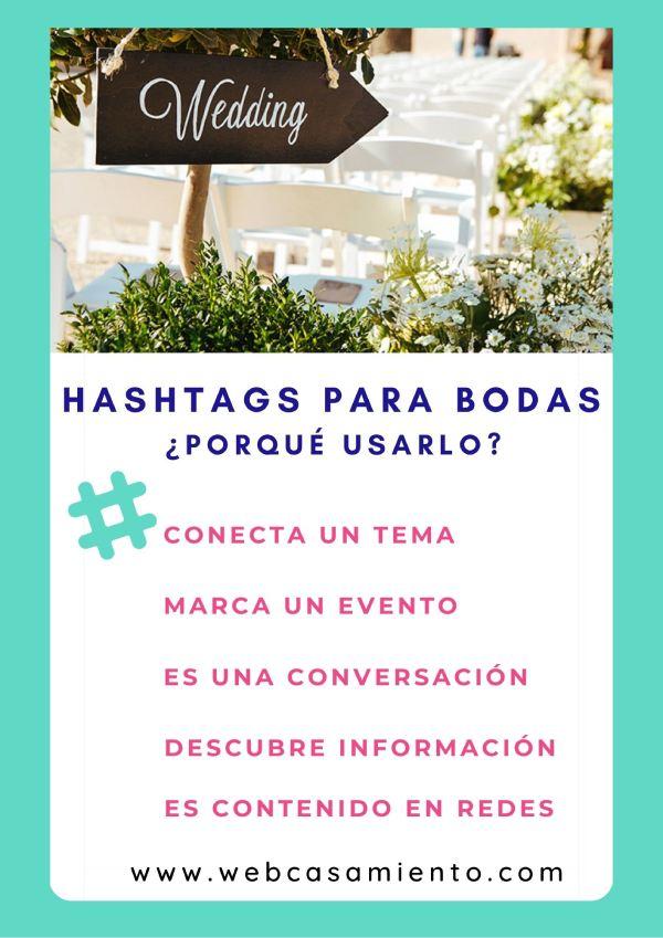 hashtag para bodas