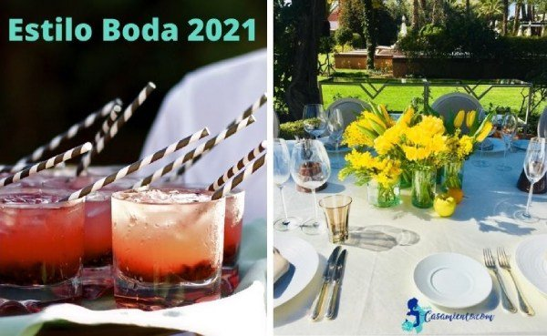 tendencia boda 2021 cocktail