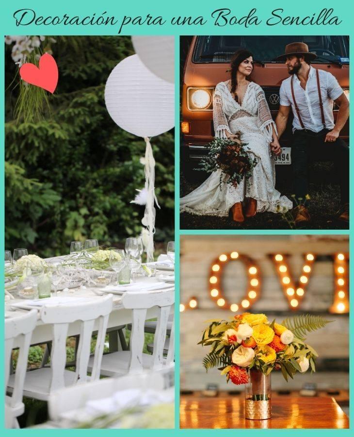 decoración para una boda sencilla
